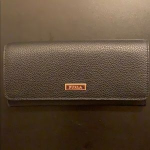 NEW Furla Flap Style Leather Wallet